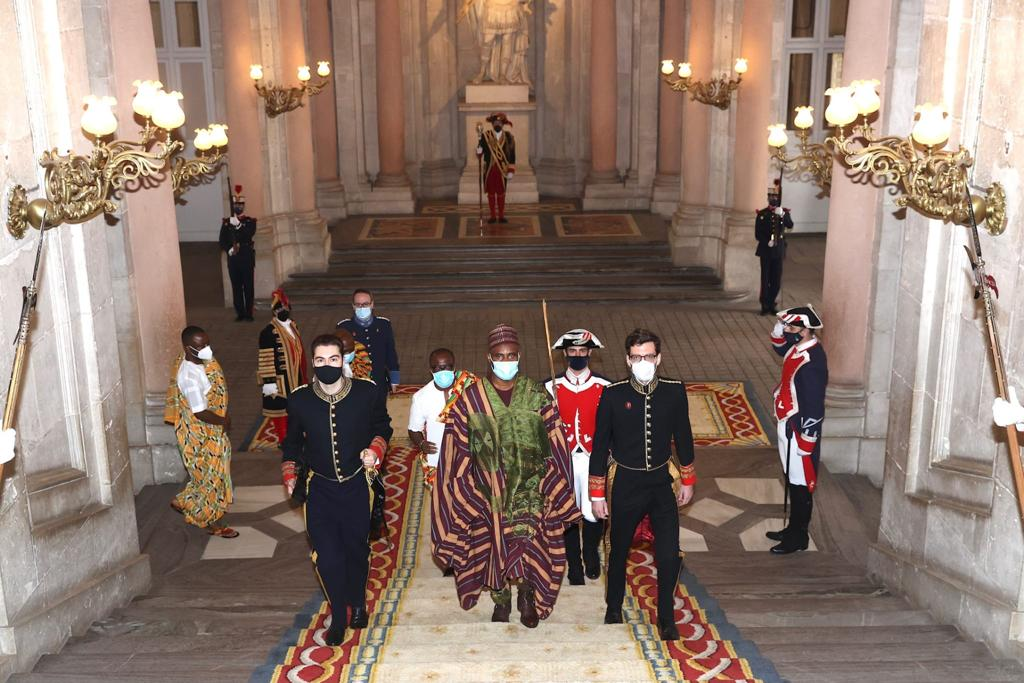 H.E. Muhammad Adam Ghana's new Ambassador to the Kingdom of Spain presents His Letters of Credence